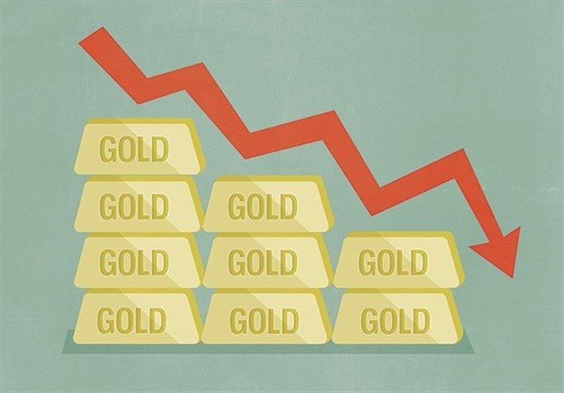 طلا به شدت در حال سقوط